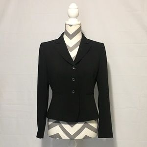 Tahari Arthur S. Levine Black Crop Jacket Womens 4